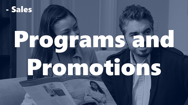 Programs and Promotions